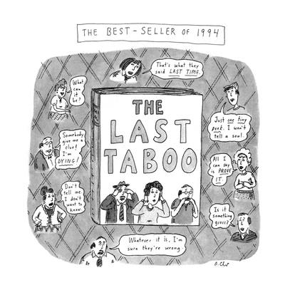 THE LAST TABOO - New Yorker Cartoon