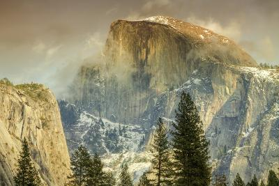 Cloud Wisps at Half Dome, Yosemite