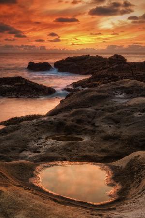 Fiery Sunset at Point Lobos, California