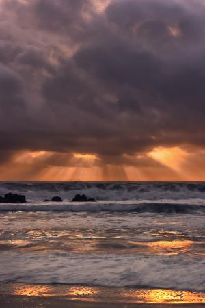 Light Beams at Big Sur