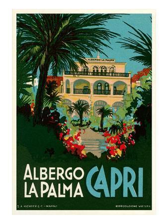 Travel Poster for Capri, Italy