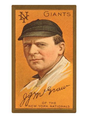 Early Baseball Card, John Mcgraw