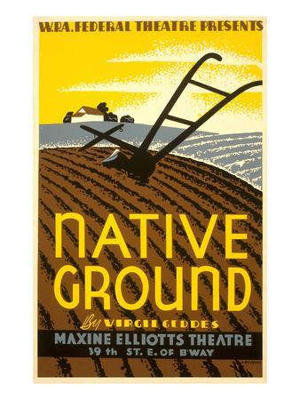 Wpa Poster for Native Ground Play