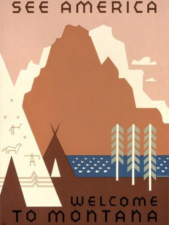 See America, Montana Travel Poster