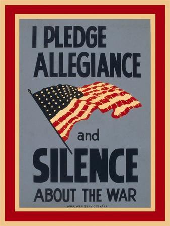 Allegiance and Silence War Poster