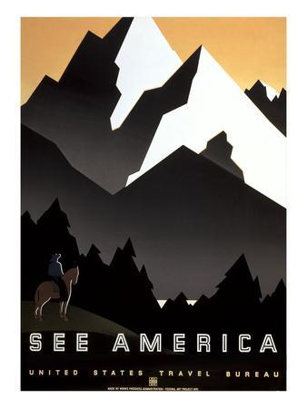 Stylized Mountains, See America