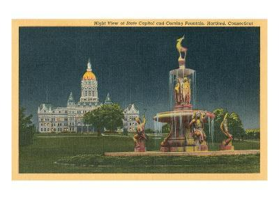 State Capitol, Corning Fountain, Hartford, Connecticut