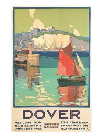 Travel Poster for Dover, Kent