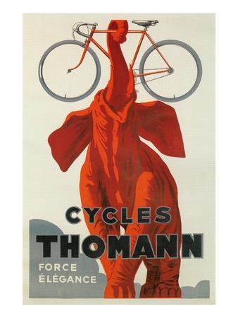 Cycles Thomann, Red Elephant Holding Bike