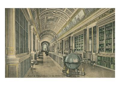 Library at Fontainebleau, France