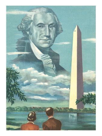 George Washington and His Monument