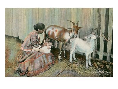 Goat Nursing a Child, Cuba