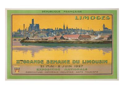 Ad for Limoges Fair, France