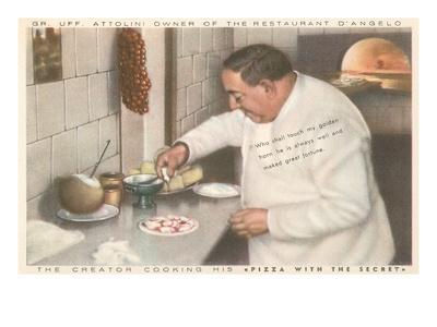Chef Attolini Making Pizza
