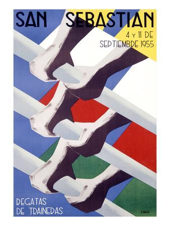 San Sebastian Rowing Regatta Poster