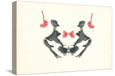 Rorschach Test in Red and Black