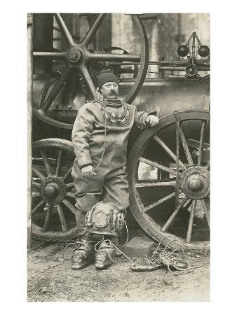 Deep Sea Diver with Giant Pump
