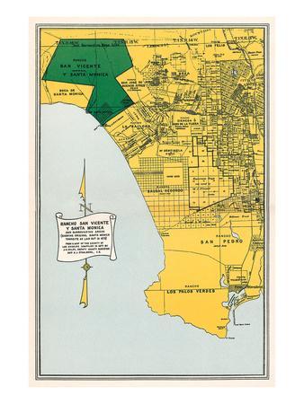 Early Map of Santa Monica, California