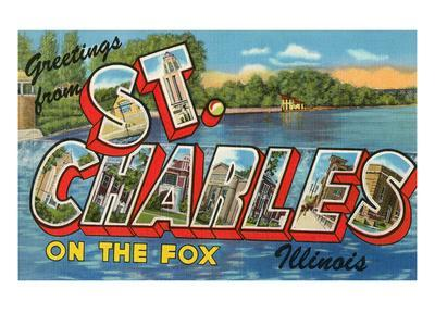 Greetings from St. Charles, Illinois, on the Fox
