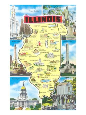 Map of Illinois, Attractions
