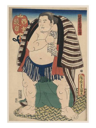 Woodcut of Sumo Wrestler