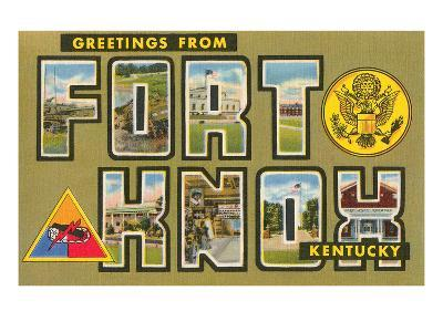 Greetings from Fort Knox, Kentucky
