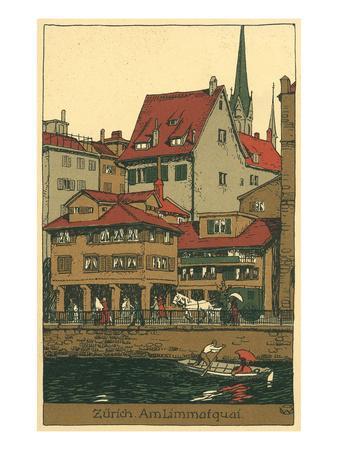 Banks of the Limmat, Zurich, Switzerland