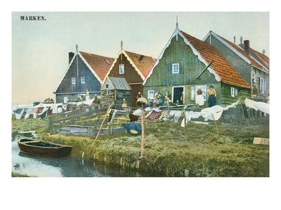 Canal Life, Marken, Holland