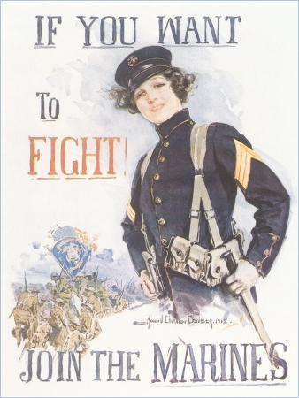 Vintage Marines Recruitment Poster