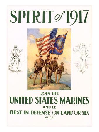 World War I Marines Recruitment Poster