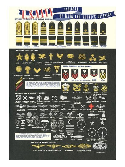 Us Navy Rank And Service Insignia Art At Allposters Com
