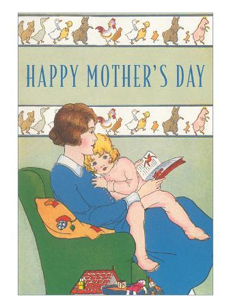 Happy Mother's Day, Reading to Child