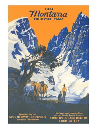 Montana Highway Map