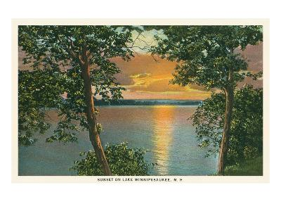 Sunset on Lake Winnipesaukee, New Hampshire