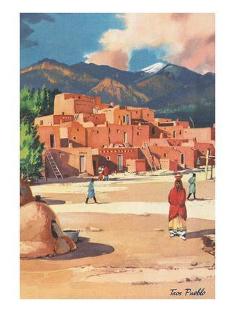 Travel Poster for Taos Pueblo