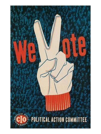 We Vote, Glove with V Sign