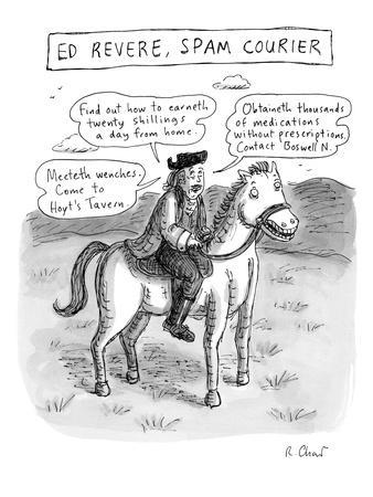 """Ed Revere, Spam Courier"" - New Yorker Cartoon"