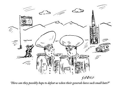"""""""How can they possibly hope to defeat us when their generals have such sma…"""" - New Yorker Cartoon"""