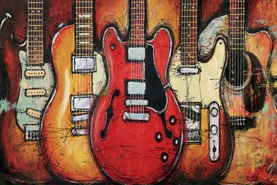guitar wall decor.htm guitar collage  prints bruce langton allposters com  guitar collage  prints bruce langton