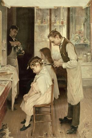 Children at the Hairdresser's