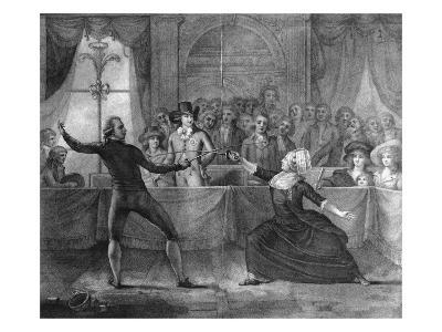 Charles Eon De Beaumont in Duel vs V. Picot, 1787