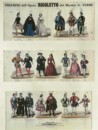 Figurini dell'Opera Rigoletto (Figures from the Opera Rigoletto), Opera by Giuseppe Verdi