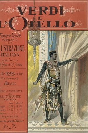 """Title Page to """"Verdi e l'Otello,"""" Special Edition of Magazine """"Illustrazione Italiana"""""""