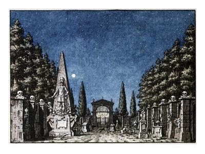 Stage design for Act II of Don Giovanni, Opera by Wolfgang Amadeus Mozart
