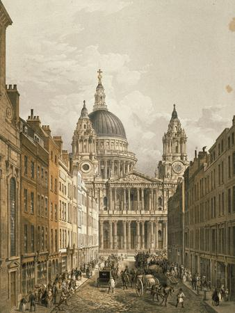 View of St. Paul's Cathedral from Ludgate Hill, 1852