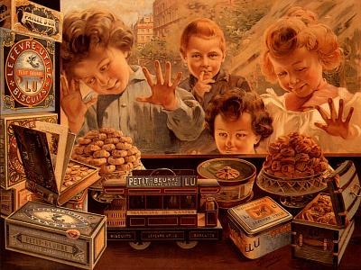 Children at Confectionery Shop