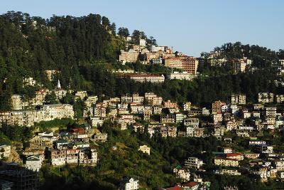 View of Shimla Houses, Shimla, Himachal Pradesh, India, Asia