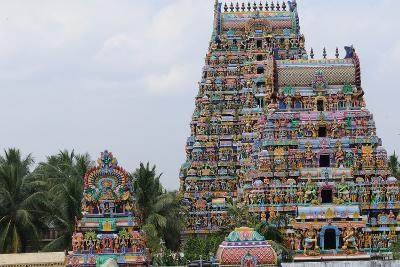 Manargudi Temple Gopuram, Manargudi, Tamil Nadu, India, Asia