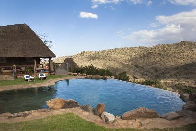 Infinity Pool and View from Borana Luxury Safari Lodge, Laikipia, Kenya, East Africa, Africa