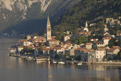 A Small Town on the Fjord Approaching Kotor, Montenegro, Europe